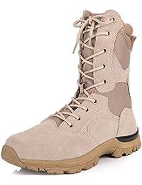FCBDXN Alpinismo Para Hombre Al Aire Libre Zapatos Deportivos Tácticas Asalto Entrenado Botas De Ejército De Combate Fuerzas Armadas Botas De Seguridad
