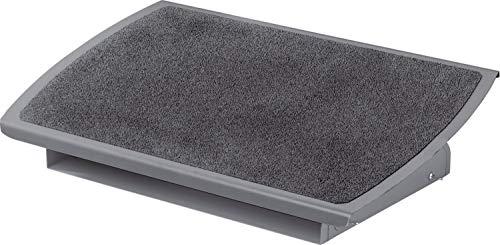 3M FR530CB Reposapiés de estructura de acero, con plataforma extra ancha, ajustable en inclinación y altura. Superficie antideslizante Safety Walk™ . Altura regulable de 10,16 cm a 12,7 cm. Dimensiones: 56 cm de ancho por 35 de profundidad.