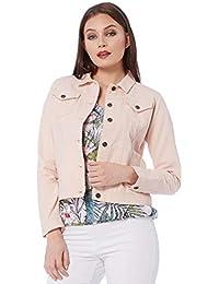 f8706b821ef5 Roman Originals Women Denim Jeans Jacket - Ladies Cotton Summer Casual  Lightweight Holiday Travelling Trucker Cover