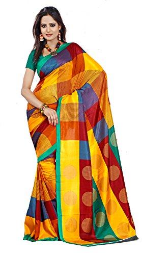Samskruti Sarees Women Art Silk Printed Saree (SPAS-44,Multicolor)