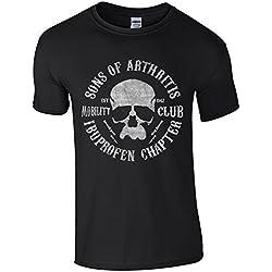 "Mobility-Motorradclub Spaß-T-Shirt ""Sons of Arthritis"" Gr. L, Schwarz"