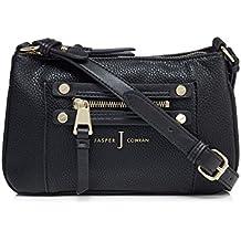 J By Jasper Conran Black Zip Detail Cross Body Bag
