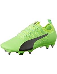 Puma Evopower Vigor 3 LTH FG, Chaussures de Football Homme, Vert (Green Gecko Black-Safety Yellow 01), 45 EU