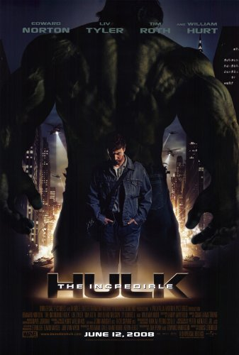 The Incredible Hulk Plakat Movie Poster 11 x 17-28 cm x 44 cm, Edward Norton Liv Tyler Tim Roth William Hurt, Tim Blake, Nelson - 17 Movie X (11 Poster Hulk