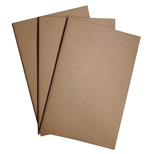 Notizbuch-Nachfüllungen | Notizbuch Einsätze | Punktiert Papier - 3er Set | A5 Nachfüllung für Reisetagebücher aus Leder, Tagebücher und Notizbücher | Travelers Notebook Inserts |21cm x 14cm