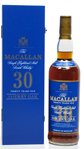 Macallan - Sherry Oak Speyside Malt Blue Label - 30 year old Whisky