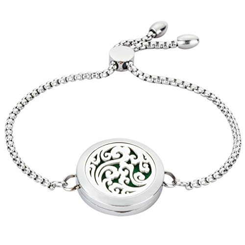 Systematic 316l Stainless Essential Oils Aromatherapy Locket Diffuser Bangle Bracelet Gift Jewelry & Watches