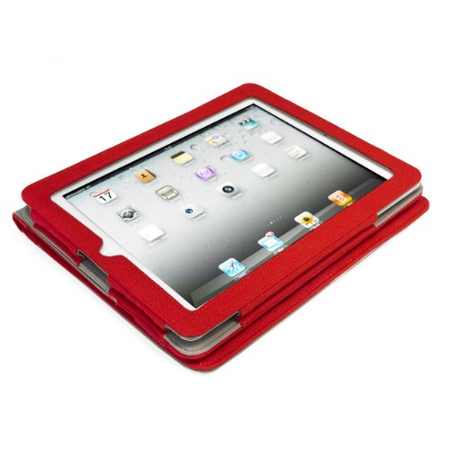 "Portfolio ""Poptop G1326"" für Apple iPad 2/3rd/4th Generation, Dunkelgrau Rot"