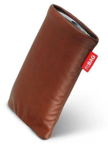 fitBAG Blues Braun Handytasche Tasche aus Lederimitat mit Microfaserinnenfutter für Samsung SGH-ZV40