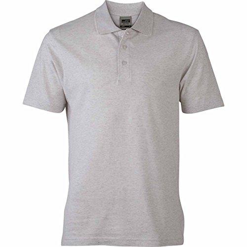 JAMES & NICHOLSON Herren Poloshirt, Einfarbig gris chiné clair
