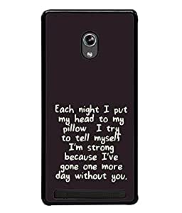 FUSON Designer Back Case Cover for Asus Zenfone 5 A501CG (Green Background Quote Love Heart Messages Crazy Express Sorry )
