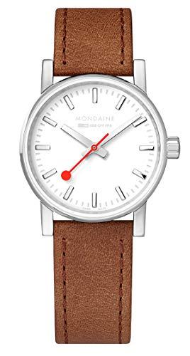 Mondaine evo2 Brown Leather Strap Ladies' Watch