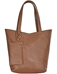 AZZRA Women's Stylish Synthetic Leather Shoulder Bag (Brown)