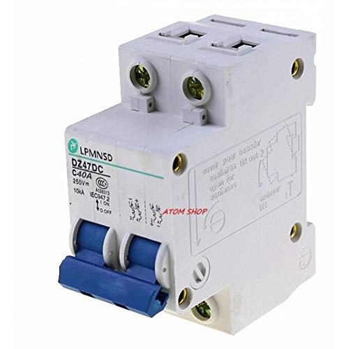 Leistungsschalter 2P 40A Leistungsschalter Mcb 2 Pole Solarenergie Photovoltaik Pv Mini Dc-Schutzschalter Antiflame -