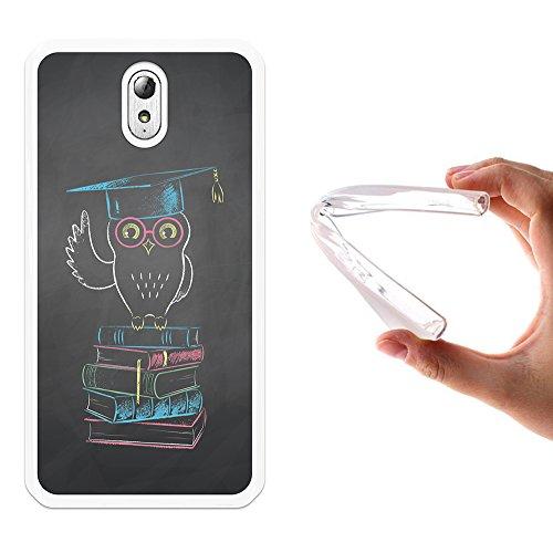 WoowCase Lenovo Vibe P1m Hülle, Handyhülle Silikon für [ Lenovo Vibe P1m ] Mürrischer Student Handytasche Handy Cover Case Schutzhülle Flexible TPU - Transparent