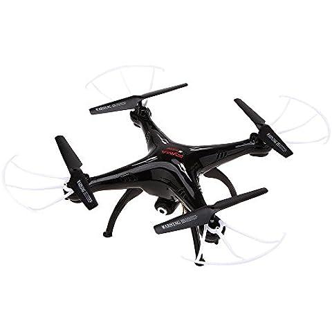 ILov SYMA X5SW X5SW-1 2.4G 4CH 6-Axis Gyro Headless Soporte móvil de Apple Control de IOS Android Wi-Fi Wifi FPV HD de 0.3MP cámara de 360 grados 3D balanceo Modo 2 RTF RC Quadcopter+Batería*5+Cargador