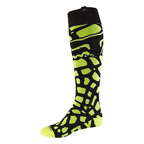 Fox 2017 Herren Motocross / MTB Socken - GRAV COOLMAX THIN - schwarz-gelb: Größe Socken: L