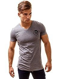 Diesel Hommes T-shirt à col V Michael Industry