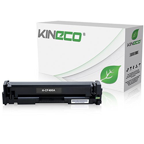Preisvergleich Produktbild Kineco Toner kompatibel zu HP CF400A 201A Tonerkartusche für HP LaserJet Pro MFP M277dw, Pro 200 M252dw, M277n, M252n, M277n, M274n - Schwarz 1.500 Seiten
