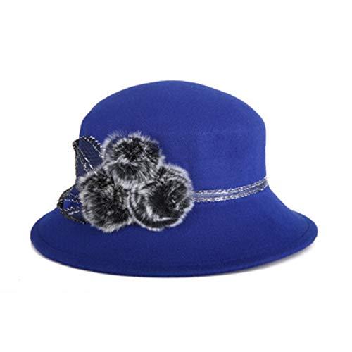 Auspiciousi Sombreros de Fedora de piel de invierno Sombrero de mujer Gorras de jugador de bolos