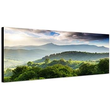 Amazon.de: Landschaftsbild Morgenhimmel Wolken Wald