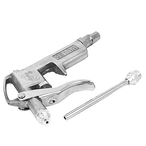 sourcingmap® Air Compressor Duster Blower Cleaner Tool Metal Blow Gun Silver Tone