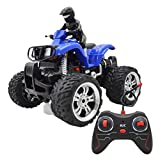happy event Kinder Spielzeug Fernbedienung Auto Off-Road-Motorrad Vierwegefahrzeuge 360 ° drehbar (Blau)