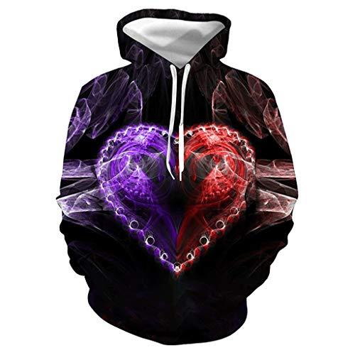 kolila Halloween Sale Herren Damen Unisex Kapuzenpullover Coat Horror 3D Gedruckte Halloween Hoodie Hooded Jacke Sweatshirt Pullover