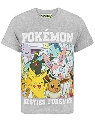 Pokèmon - Camiseta de Manga Modelo Besties Forever para niños de Vanilla Underground