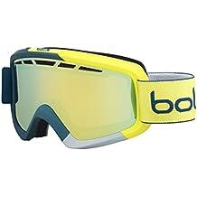 Bollé Nova–Gafas de esquí II Matte Blue/Yellow Citrus Oro, 21470