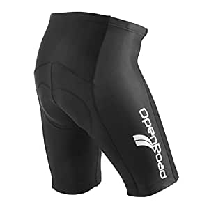 OpenRoad Men's Gel Padded Cycling Shorts Road Bike Black Small