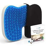 Mosswell® Orthopädisches Sitzkissen. Lindert Rückenschmerzen sofort. Ergonomisches Steissbeinkissen mit Gel | Gesundes Sitzen | Lange Haltbarkeit. Sitzkissen orthopädisch für Bürostuhl und Auto