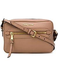Miu Miu Women s 5BH1162AJBF0770 Brown Leather Shoulder Bag ee24b3718d6a6