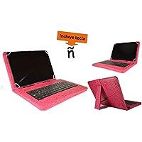 """Theoutlettablet® Funda con teclado extraible en español (incluye letra Ñ) para Tablet Samsung Galaxy Tab 2 10.1"""" - Rosa Fucsia con Dibujos"""