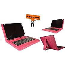 """Theoutlettablet® Funda con teclado extraible en español (incluye letra Ñ) para Tablet Cube_U30Gt2 10.1"""" - Rosa Fucsia con Dibujos"""