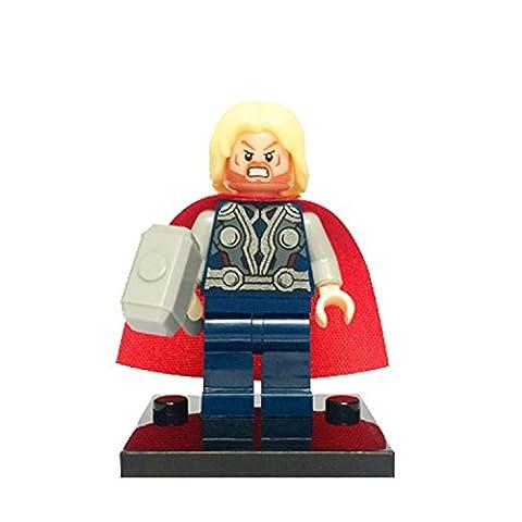 Marvel DC Figuren Avengers Super Hero Spiderman Superman Batman Iron Man Hulk Thor Mini Figuren für LEGO (Thor)