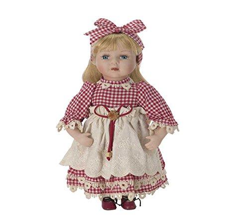 Muñeca de Porcelana de 30 cms con soporte. ROSSELLA