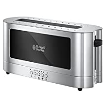 Russell Hobbs 23380 Elegance Two Slice Toaster, Browning Control, Defrost and Faster Toast Technology, Silver