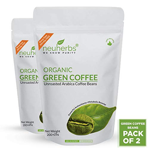 Neuherbs Green Coffee Beans for Weight Loss 200g+25g Free (Pack of 2)