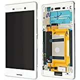 Sony Xperia M4 Aqua E2303 full LCD Display + Touch Screen White Original - Front Cover Assy SS White
