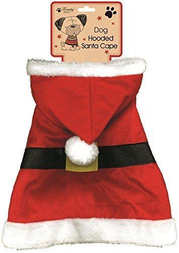 Frosty Paws Abgedeckt Santa Umhang Weihnachtsmann Hund Outfit - Rot, (Hunde Weihnachtsmann Outfit Für)