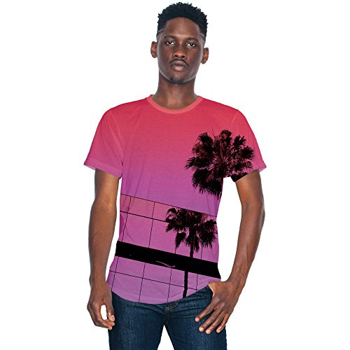 American Apparel Mens Sublimation Lightweight 100% Polyester T-Shirt White