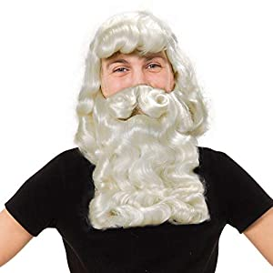 Father Xmas Wig/Beard. Superior (Wigs) - Male - One Size (peluca)