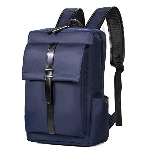 Zaino da uomo Zaino Moda Borsa casual Borsa da lavoro per laptop Blu scuro 16 pollici