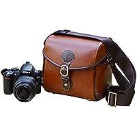 Elegant Vintage PU Leather Case Bag for Nikon COOLPIX B500 L340 L340 L840 L830 P530 P600,NIKON 1 V2 S1 AW1 V3 J3 J4 S2 Long-Zoom / Bridge/Compact system Camera.