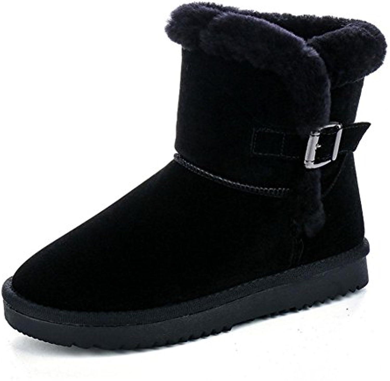 MEILI Zapatos de mujer, botas de mujer, botas de nieve, en el tubo, engrosamiento, además de cachemira, cálido...