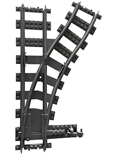 Lego City kompatibel Eisenbahn Schienen Weiche rechts Neu