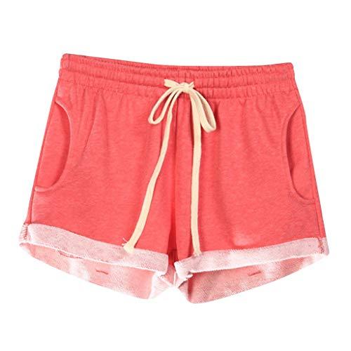 UFACE Leinen Shorts Damen Sommer Kurze Hosen Frauen Hot Pants High Waist Lose Stretch Beach Shorts Große Größen