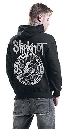Slipknot Flaming Goat Kapuzenjacke schwarz Schwarz