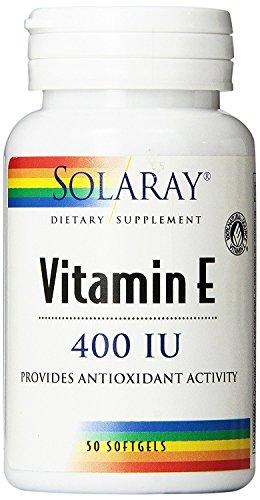 Vitamina E 50 perlas de 400 IU de Solaray